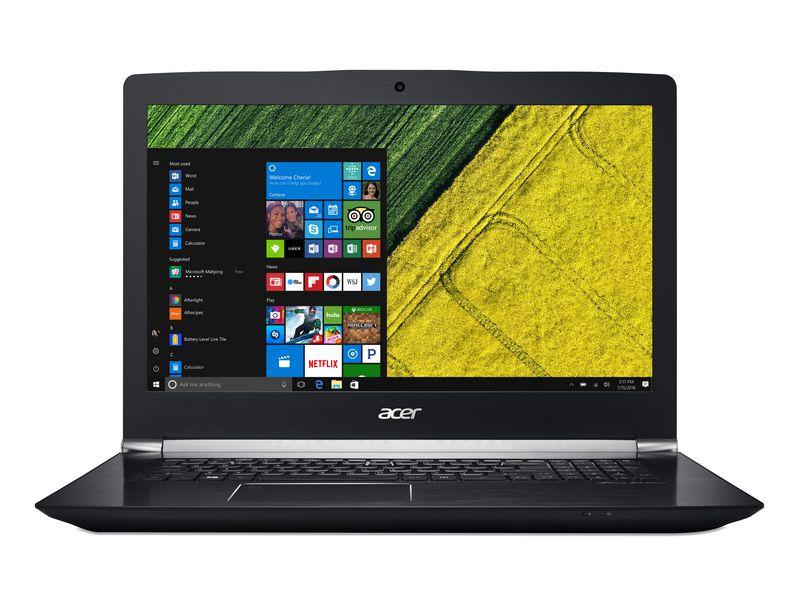 Acer Notebook Aspire V Nitro (VN7-793G-70ED), Intel Core i7-7700HQ, 16GB DDR4 RAM, 1TB HDD + 256GB SSD, 17.3 Zoll, 1920 x 1080 Pixel, Windows 10 Home