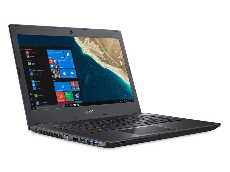Acer Notebook Travelmate P249, Intel Core i5-7200U, 4GB DDR4 RAM, 128GB SSD, 14 Zoll, 1366 x 768 Pixel, Windows 10 Home
