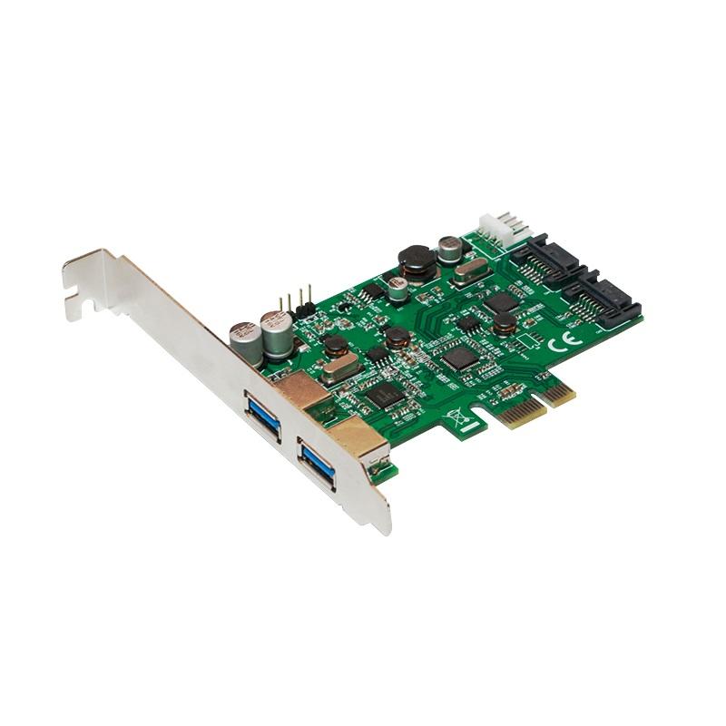 USB 3.0 + Serial ATA PCI-Express Karte, 2 + 2 Port