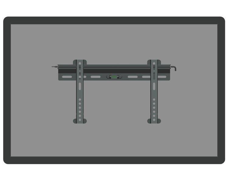 "PLASMA-W040 22-42"" NewStar Flatscreen Wall Mount (fixed) Silver"