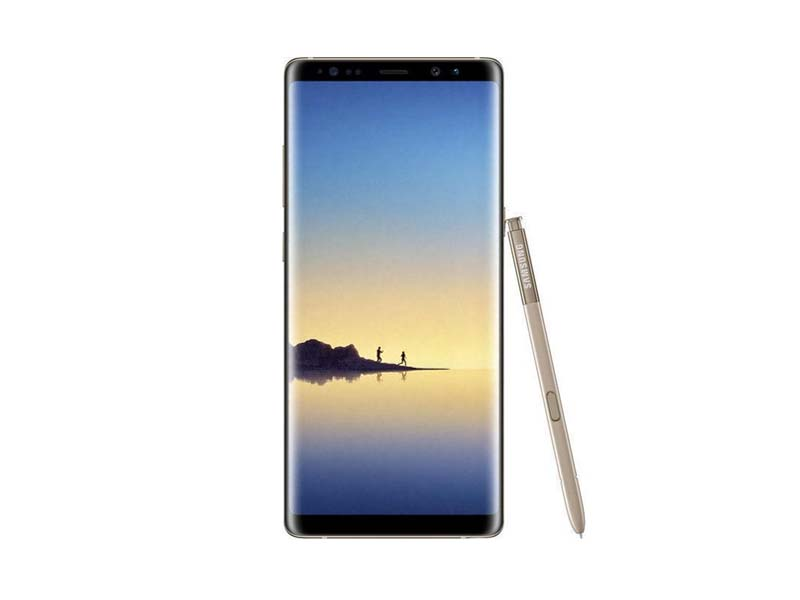 Samsung Galaxy Note8, 6.3 Zoll Super AMOLED, 1440 x 2960 Pixel, 12 MP Hauptkamera & 8 MP Frontkamera, 6 GB RAM, 64 GB ROM, 4G/LTE, 2.4 GHz Octa-Core, Gold