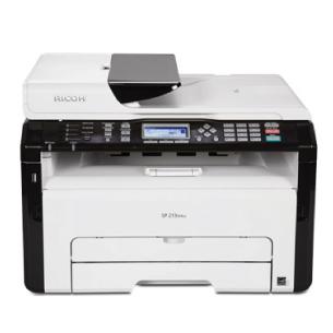 Ricoh Multifunktionsdrucker SP 277SFNWX, Schwarzweiss Laser Drucker, A4, 23 Seiten pro Minute, Drucken, Scannen, Kopieren, Fax, WLAN