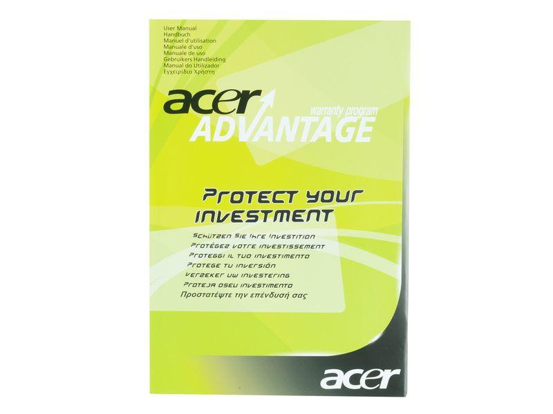 Acer Garantie auf 3 Jahre Chromebook Servicetyp: Bring-in, Reaktionszeit: 5 Arbeitstage, Notebook Serie: Acer Chromebook, Garantiedauer: 1 J.