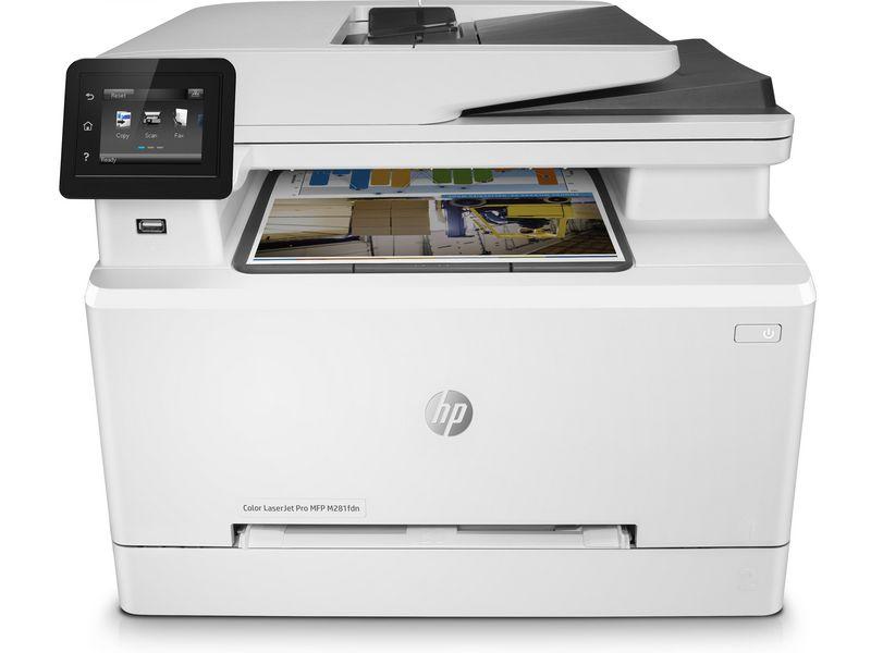 Hewlett-Packard HP Color LaserJet Pro MFP M281fdn, Farblaser Drucker, A4, 21 Seiten pro Minute, Drucken, Scannen, Kopieren, Fax, Duplex