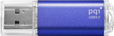 USB 3.0 Travel Disk U273V, 32 GB, Lesen: 40 MB/s, Metall, Abgedeckt, Blau