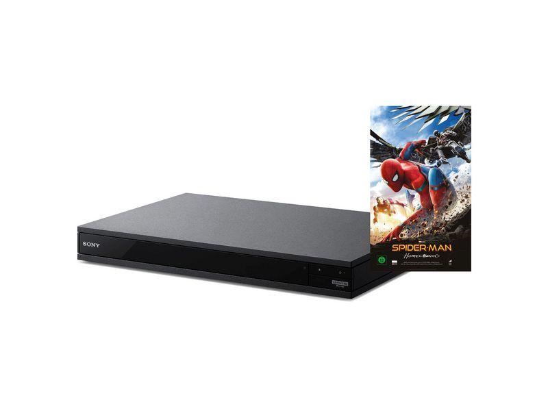 Sony Blu-ray Player UBP-X800 plus Spiderman Movie, 3D-Fähigkeit, Tuner-Signal: Kein, Farbe: Schwarz, Schnittstellen: HDMI; RJ-45 (Ethernet); Coaxial; USB, Typ: Bluray Player, Ausstattung: WLAN; Bluetooth; Fernbedienung; Hi-Res Audio