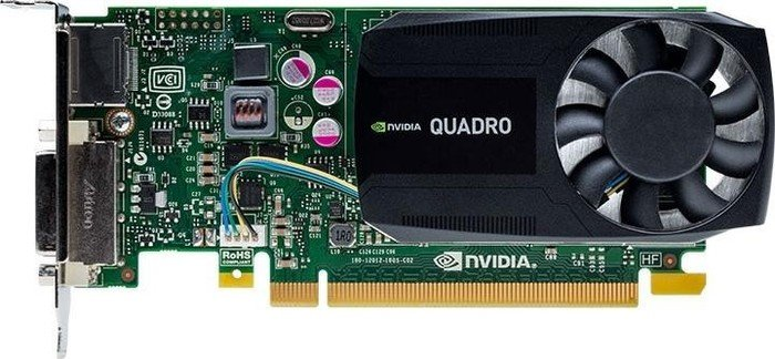 QUADRO K620 + 2Y WARRANTY EXT 2GB GDDR3, 128-bit, 29GB/s, PCI Express 2.0 x16, 1x DVI-I DL, 1x DP1.2 NMS