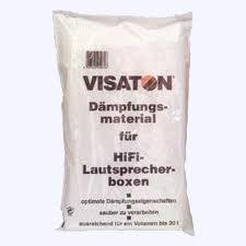 Visaton Dämpfungsmaterial, Polyesterwolle, 125 g, ausreichend für ein Volumen bis zu 20 l,