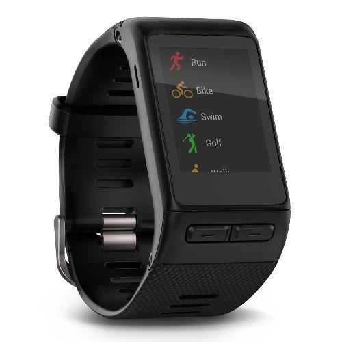 Garmin Vivoactive HR schwarz, Sport-GPS-Smartwatch mit HR-Messung am Handgelenk, Farb-Touchscreen,