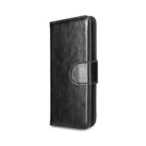 Xqisit Wallet Case Eman für iPhone 5s schwarz, elegantes Klappetui für den perfekten Schutz des