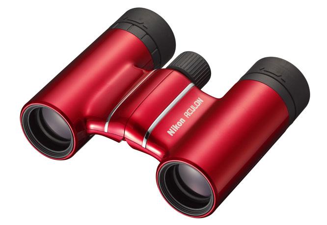 Nikon Fernglas T01 Aculon 10x21 rot, Naheinstellgrenze: 3m