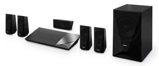 Sony BDV-N5200WB, schwarz, 3D-Blu-ray-Surround-Set, 5.1, 1000 Watt, NFC, Wireless Rear Speaker,