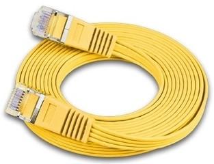 Slimpatchkabel Cat.6, UTP, 25m, gelb Farbe: Gelb, Form: Flach, Zusatzfunktionen: Mit Klinkenschutz, Leistungskategorie Cat.: Cat. 6 (1 Gbit/s), Kabelummantelung: PVC, Länge: 25 m, Kabelschirmung: UTP, mit Klinkenschutz und Längenaufdruck am S