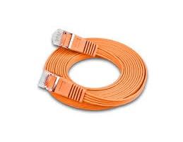 Slimpatchkabel Cat.6, UTP, 25m, orange Farbe: Orange, Form: Flach, Zusatzfunktionen: Mit Klinkenschutz, Leistungskategorie Cat.: Cat. 6 (1 Gbit/s), Kabelummantelung: PVC, Länge: 25 m, Kabelschirmung: UTP, mit Klinkenschutz und Längenaufdruck