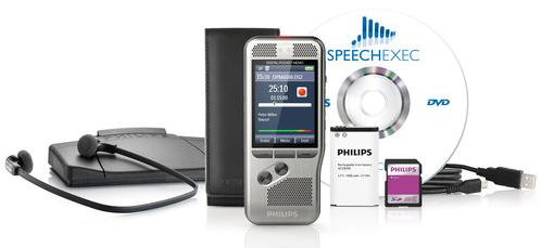 Starter Set DPM 6700, Bundle mit Philips DPM 6000 Voicerecorder und 7177 Transcription Set