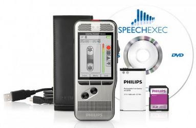 Starter Set DPM 7700, Bundle mit Philips DPM 7200 Voicerecorder und 7177 Transcription Set