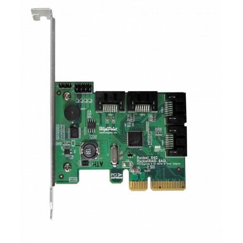 RocketRAID640L 4 Port SATA3 6Gbps Kontroller, PCI-Express-x4 2.0, kompatibel mit SATA1/2