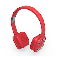 MINISTRY OF SOUND - Audio On Plus - On-Ear Wireless - Red - Professional sounding audio quality - ControlTalk Systeme - Volume up/down - Carry pouch - Wireless - Bluetooth