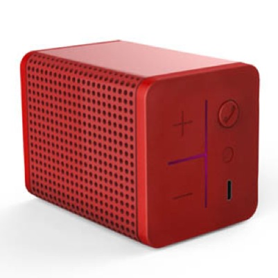 MIPOW - Mini Boom - Red - 3W x 1 - 650mAh / 3.7V / 2.4Wh - 60 Hz - 20 kHz - Bluetooth V4 - Mini Speaker - Compact Bluetooth Speaker - Bi-directional noise reductor - Battery (5h of music) - Built-in Microphone - Multi-point