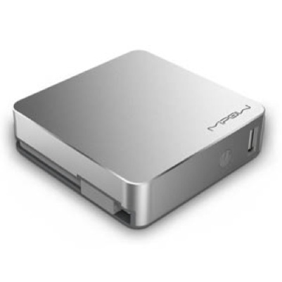 MIPOW SALT - Power Cube 5200 - Silver - Micro USB - 5200mAh / 3.7V / 19.24wh - Superb charging cube with vast capacity (5200mA) - Micro USB connector & male USB input cable incl. - Extra USB output - Output 2.1 A - support charging for two mobile dev