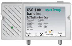 Axing SVS 1-00,Breitbandverstärker, DVB-S, DVB-C, DVB-T