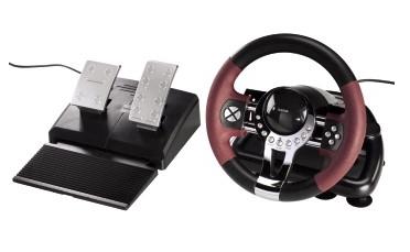 hama Lenkrad Racing Wheel Thunder V5 2in1, schwarz/dunkelrot