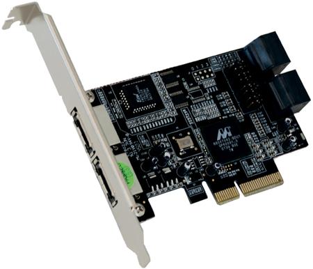 Serial ATA II PCI-Express Controller, 4 + 2 Port