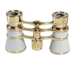 Danubia Fernglas Opernglas 103 3.5x25, perlmut/gold, achromatische Optik, inkl. Aufbewahrungstasche