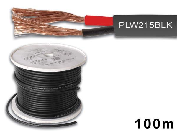 Velleman PLW215BLK Lautsprecherkabel 100m schwarz, 2x1.5mmý, Aussen-ø: 2.85mm x 2,